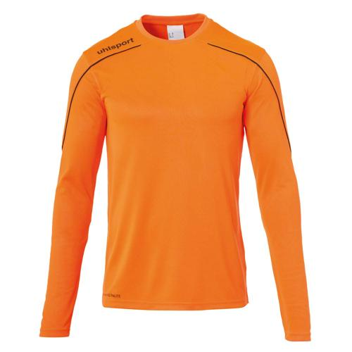 Maillot ML Stream 22 Orange fluo/Noir enfant UHLSPORT