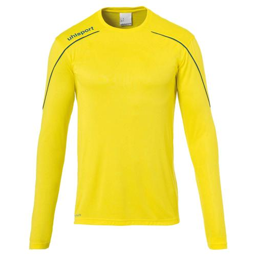 Maillot ML Stream 22 Jaune/Azur enfant UHLSPORT