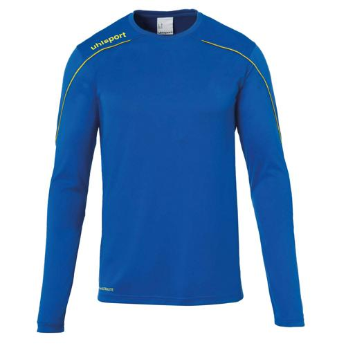 Maillot ML Stream 22 Azur/Jaune enfant UHLSPORT