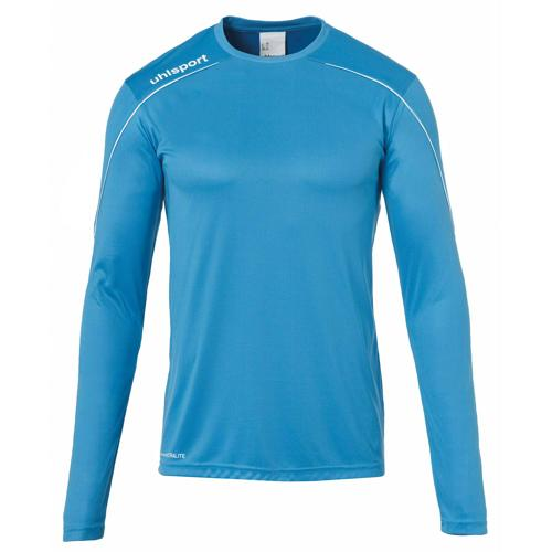 Maillot ML Stream 22 Cyan/Blanc enfant UHLSPORT