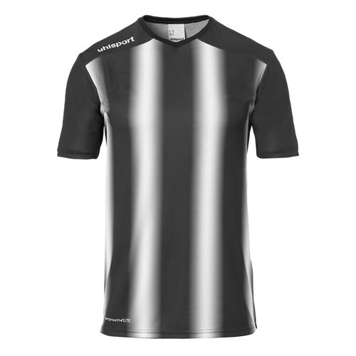 Maillot MC Stripe 2.0 Noir/Blanc UHLSPORT