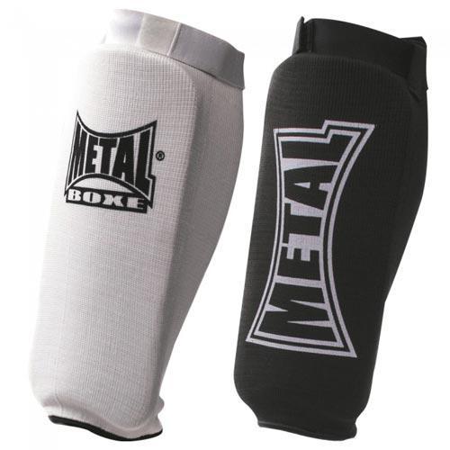 Protège Tibia Coton Métal Boxe Elast Blanc