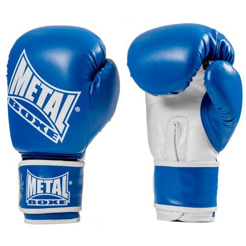 Gants d'entrainement Métal Boxe Bleu