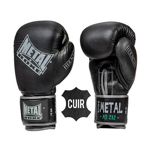 Gants cuir - Métal Boxe Heracles