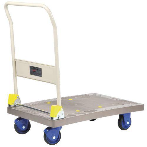 Chariot plastique dossier rabattable - Force 300 kg