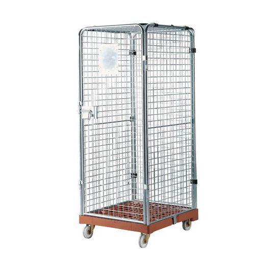 Roll-conteneur de sécurité Base plastique - Force 500 kg