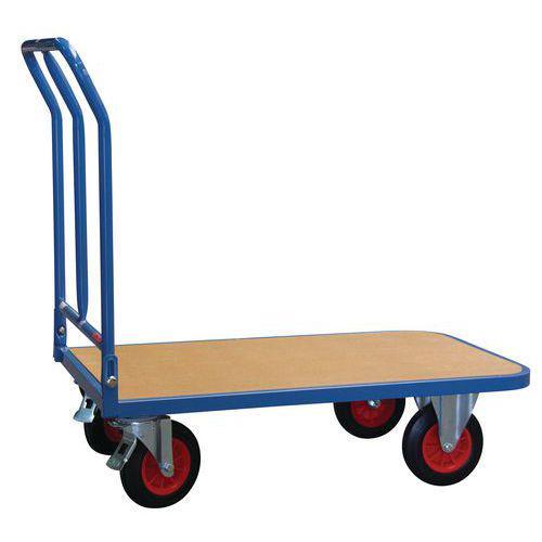 Chariot plateau bois dossier rabattable - Force 400 kg
