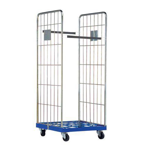 Roll-conteneur - Base plastique - Force 500 kg