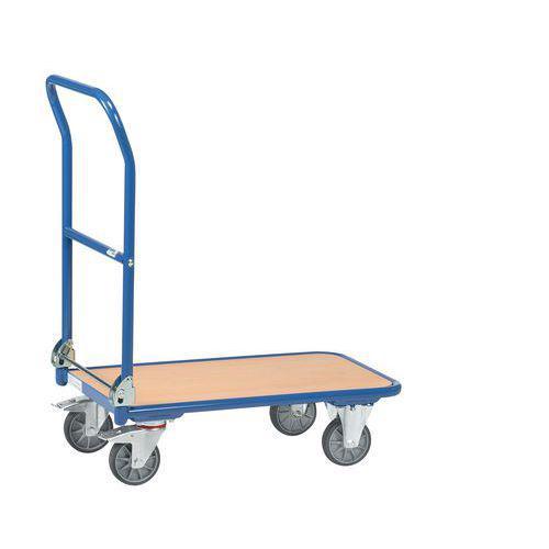 Chariot métal dossier rabattable - Force 250 kg