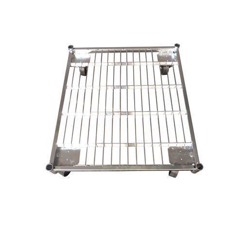 Base acier pour roll-conteneur force 500 kg
