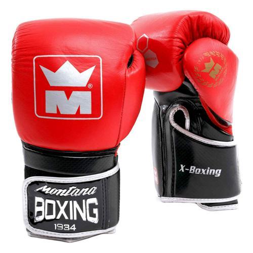 Gants multiboxes Montana X-Boxing rouge/noir
