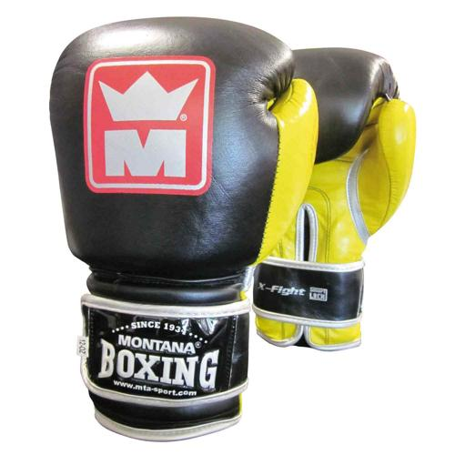 Gants multiboxes Montana X-Fight noir/jaune