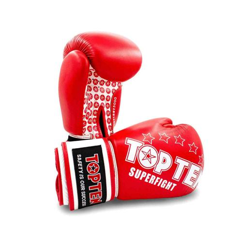 Gants multiboxes Topten Superfight 3000 Stars 20411-4010 rouge