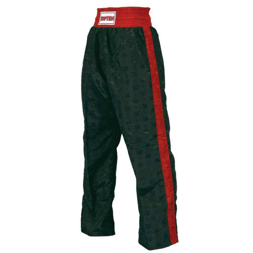 Pantalon kickboxing Topten Classic noir/rouge
