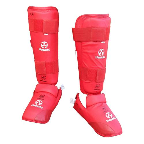 Protège tibia/pied WKF Hayashi Shin guard 343-4003 rouge