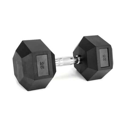 Haltère musculation hexagonal en caoutchouc de 1 à 50kg