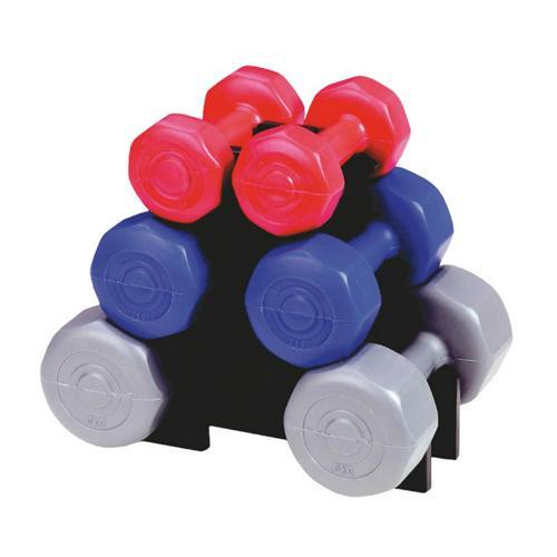 Lot 6 haltères fitness Rucanor - de 1 à 3kg