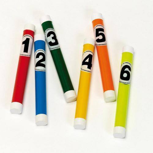 Lot de 6 bâtons lestés numérotés