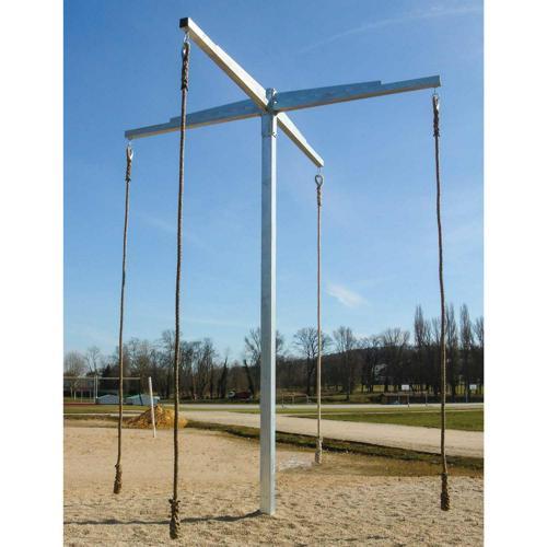 Mat à grimper, hauteur de 5, 3m hors sol, avec 4 bras, 4 maillons rapide numéro 10 / l'unité
