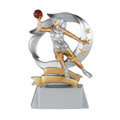 Trophée résine basket féminin