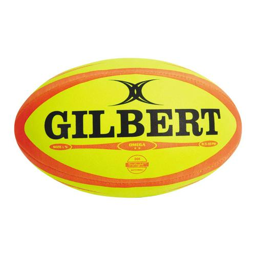 Ballon de rugby Gilbert Omega Pro fluo Taille 5