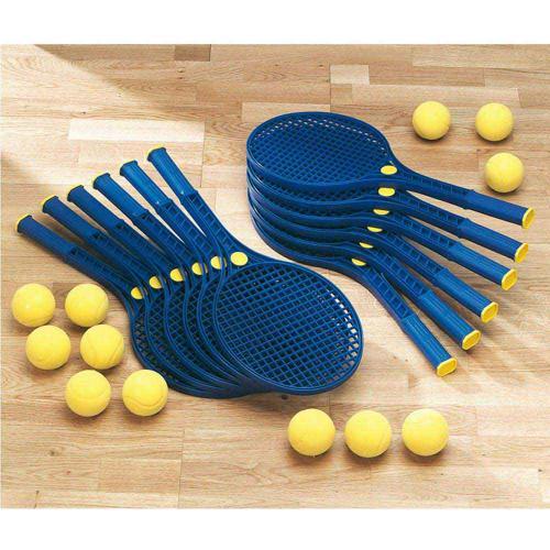 12 RAQUETTES MINI-TENNIS 54 cm + 12 BALLES EN MOUSSE