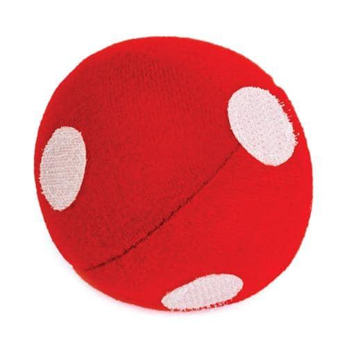 Balle avec cercles auto-agrippants pour jeu vise moi, attrape moi / Coloris rouge
