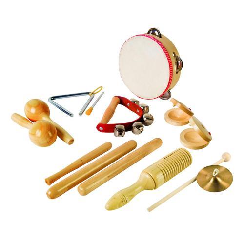 Lot de 8 instruments de musique
