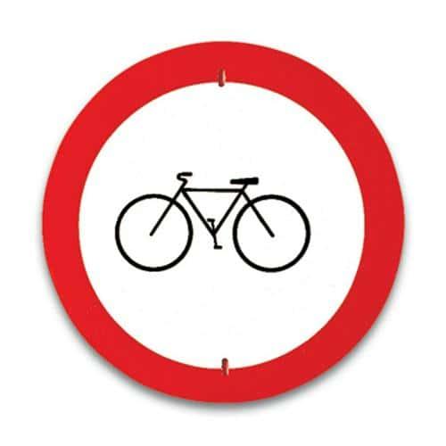 Panneau de signalisation Accès interdit aux cyclistes