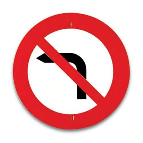 Panneau de signalisationInterdit de tourner à gauche