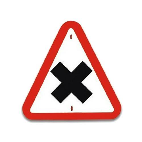 Panneau de signalisation-Intersection