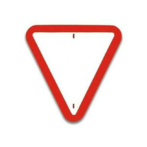 Panneau de signalisation Céder le passage
