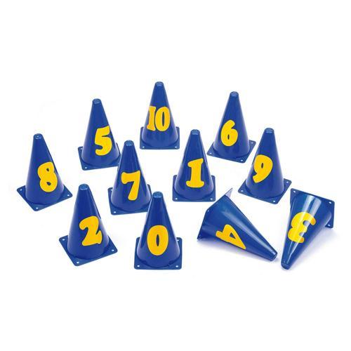 Lot 11 cônes marqués de 0 à 10