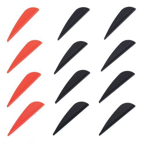 Plumes pour flèche de tir à l'arc - lot de 12 plumes