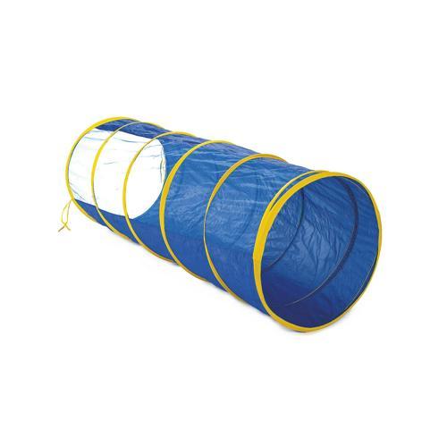 Tunnel bleu avec fenêtre, longueur : 180 cm