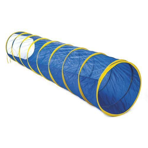 Tunnel bleu avec fenêtre, longueur : 300 cm