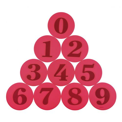 Set de marquage de 10 pièces numérotées
