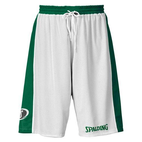 Short Spalding réversible blanc/vert