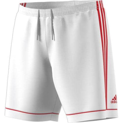 Short Squadra Enfant Blanc/Rouge adidas