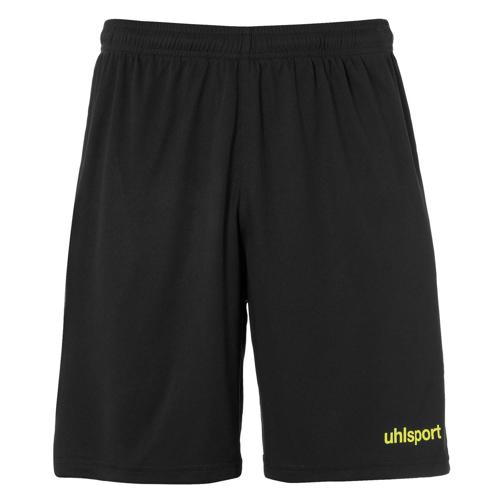 Short Center Noir/Jaune fluo UHLSPORT