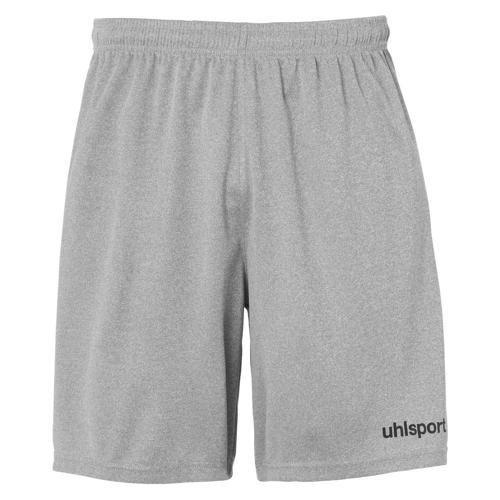 Short Center Gris chiné/Noir enfant UHLSPORT