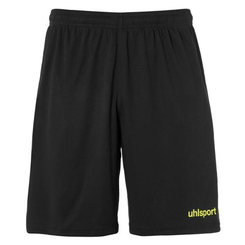 Short Center Noir/Jaune fluo enfant UHLSPORT