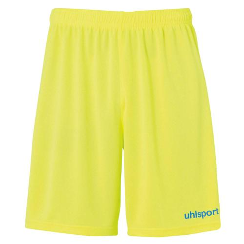 Short Center Jaune fluo/Bleu radar enfant UHLSPORT