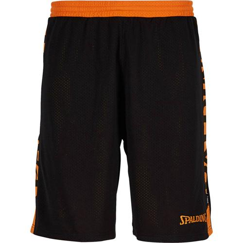 Short réversible Noir/Orange Spalding