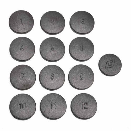 Set de 12 palets en laiton