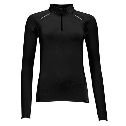Tee-shirt Feminin manches longues Running Winner PES EXPERT noir