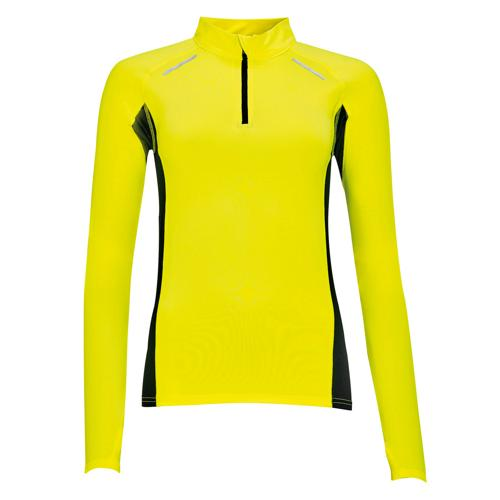 Tee-shirt Feminin manches longues Running Winner PES EXPERT jaune