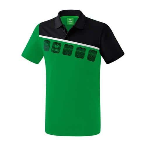 Polo 5-C Vert/Noir Erima