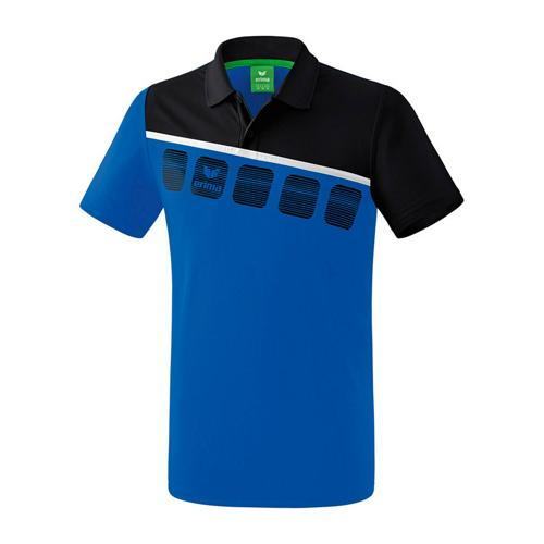 Polo 5-C Royal/Noir enfant Erima