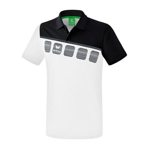 Polo 5-C Blanc/Noir enfant Erima